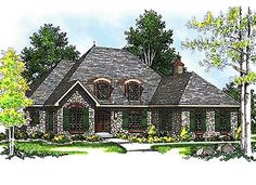 Plan W8914AH: European, French Country, Corner Lot, Photo Gallery House Plans & Home Designs