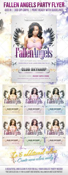 Fallen Angels Party Flyer
