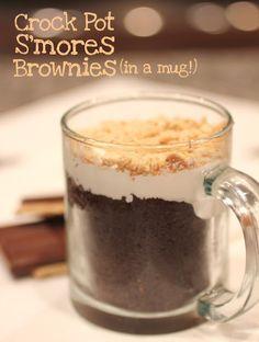 Crock Pot S'mores Brownies (In a Mug!) - Repeat Crafter Me