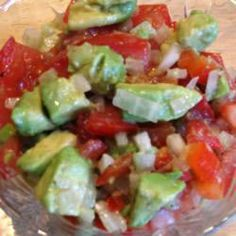 Avocado, Tomato and Pepper Salad - http://myrecipesnetwork.com/avocado-tomato-and-pepper-salad/