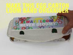 Make an egg carton loom band organiser - Kidspot