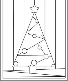 Stained glass patterns for free - stained glass patterns 185 Stained Glass Christmas, Glass Christmas Tree, Kids Christmas, Christmas Cards, Christmas Arts And Crafts, Xmas Crafts, Christmas Tree Pattern, Christmas Colors, Christmas Graphics