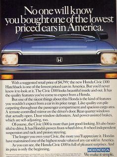 Lowest Price #Honda Vintage Ad