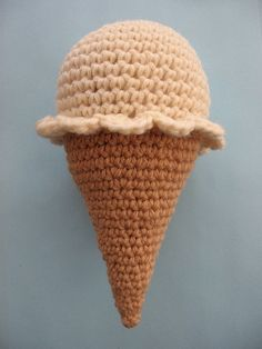 FREE Crochet Ice Cream Cone Pattern and Tutorial by thekidneybean