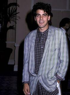 Le premier tapis rouge de George Clooney en 1986