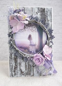 Creative Crafts, Diy And Crafts, Paper Crafts, Mixed Media Cards, Shabby Chic Cards, Beautiful Handmade Cards, Frame Crafts, Vintage Crafts, Pretty Cards