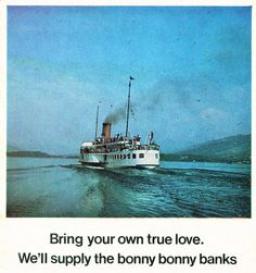 Caledonian Steam Packet publicity for Loch Lomond in 1970
