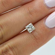 0.92 Carat F SI2 Princess Natural Loose Enhanced Diamond For Engagement Ring #MyDiamonds