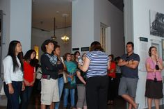 Students from #NYU on a tour of Yad Vashem's Holocaust History Museum 05/06/12