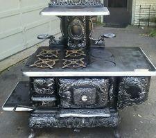 Antique Victorian happy thought Pittston stove wood burning range kitchen  stove