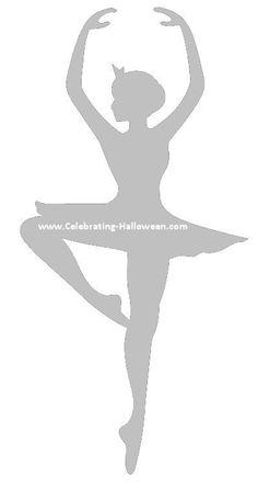 Ballerina Silhouette Pumpkin Carving Stencil
