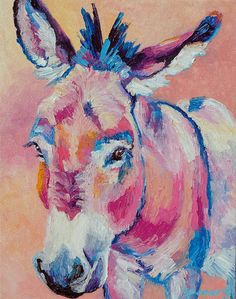 Original Donkey Oil Painting 11x14 painted by knife on Etsy, $99.38 AUD