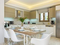 Rethymno villa rental - The kitchen provides everything you need for a self-catered family holiday!