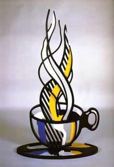 Roy Lichtenstein, Cup and saucer II on ArtStack #roy-lichtenstein #art                                                                                                                                                                                 More