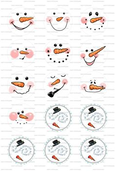 INSTANT DOWNLOAD  Snowman Frosty  4x6 Digital by PartyPotpourri, $1.50