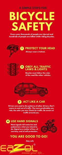 4 Simple step for BICYCLE SAFETY #Eazol