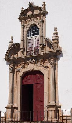 Door of the church..Castelo de Vide, Alentejo, Portugal