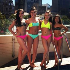 They all look so gorgeous in bikinis. Especially Kenz
