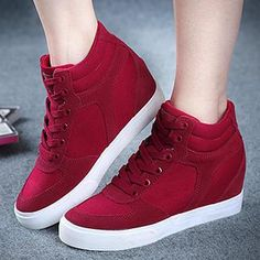 Buy 'Renben – Hidden Wedge High-Top Sneakers' with Free Shipping at YesStyle.ca. Browse and shop for thousands of Asian fashion items from China and more!
