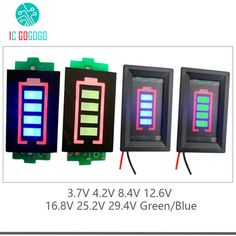 1S 2S 3S 4S 6S 7S Lithium Battery Capacity Indicator Module Blue Green Display 4.2V 8.4V 12.6V 16.8V 25.2V 29.4V Power Level  Price: 2.09 USD