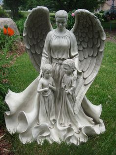 She is called Guardian Dear and is being made for my garden by Wing and a Prayer Angels.  She stands almost 40 inches high and will be the first piece in their new African American angel collection.