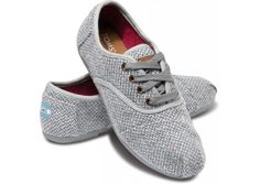 TOMS Grey Harper Womens Cordones (Grey with multi-colored ...