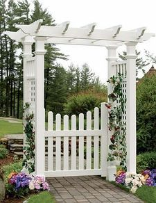 The pergola kits are the easiest and quickest way to build a garden pergola. There are lots of do it yourself pergola kits available to you so that anyone could easily put them together to construct a new structure at their backyard. Diy Pergola, Diy Arbour, Building A Pergola, Pergola Ideas, Cheap Pergola, Arbor Ideas, Building Plans, Yard Ideas, Gardens