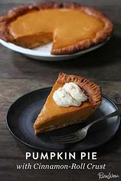 PUMPKIN PIE WITH CINNAMON-ROLL CRUST @PureWow