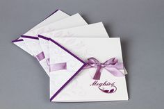 Lila szalagos esküvői meghívó - purple wedding invitations Purple Wedding Invitations, Wedding Invitation Cards, Gifts, Weddings, Presents, Wedding Invitations, Wedding, Favors, Marriage