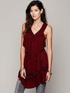 Free People Rosarito Nights Tunic, 88.00  NOTE: the black one is the one i really like