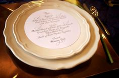 Round Calligraphy Menu by Calligraphywithstyle on Etsy, $60.00