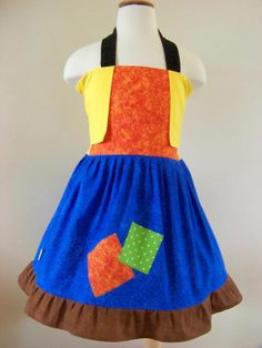 Goofy Halter Dress - one of a kind - @My Kids Drawers  - https://www.facebook.com/pages/My-Kids-Drawers/223718661039360 https://www.etsy.com/shop/mykidsdrawers