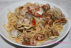 Spaghetti con pomodorini e vongole