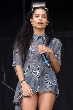 Zoe Kravitz performs during Lollapalooza at Grant Park on July 30, 2016 in Chicago, Illinois