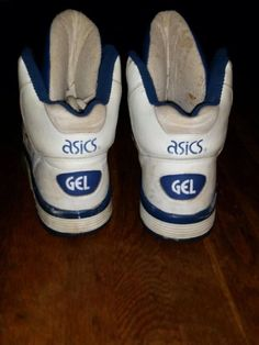1980s Asics Gel High Top Sz 12 Rage Blue White Vintage RARE OG | eBay