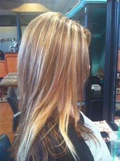 Blonde highlights / lowlights / long layered hair | Hair ... - photo #29