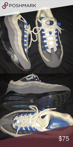 Air Max  95 Black Gray Blue Air Maxes - Size 5 in Men d5b7b6503