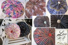 Aprenda a fazer uma almofada-fuxico reaproveitando um guarda-chuva quebrado | Coletivo Verde