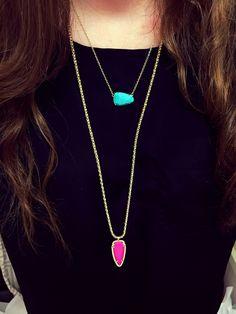 Layered Kendra Scott  necklaces
