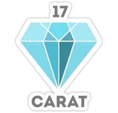 A design based off the debut album '17 Carat' by boy group SEVENTEEN. / !! works best on a white background due to uneven edges from increasing the size !! • Also buy this artwork on stickers, apparel, phone cases, and more.