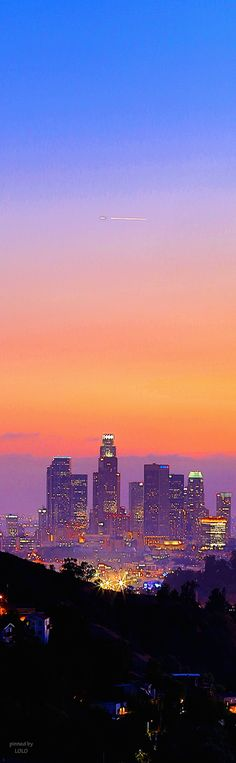 Beautiful view of Downtown Los Angeles