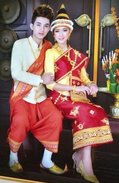 Lao wedding dress