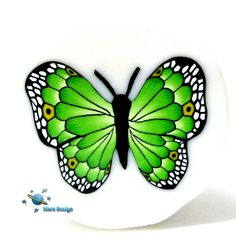 Green butterfly cane