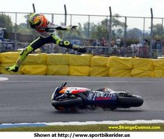 Valentino Rossi at his not so greatest moment