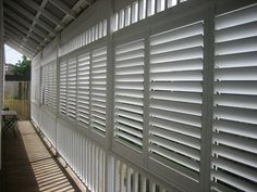 Outdoor Plantation Shutters Aluminium from Into Blinds Melbourne - Into Blinds