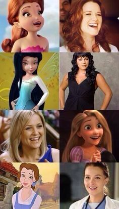 Grey's girls you mean real life Disney characters