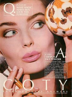 1986 PAULINA PORIZKOVA magazine print ad for Coty Airspun face powder