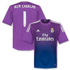 Camiseta de Portero del Real Madrid 2013-2014 Local + Iker Casillas 1  Portero Del fc428bb1383e2