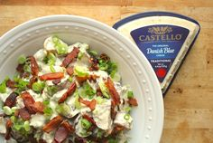 Castello Summer of Blue — Blue Cheese Potato Salad with Bacon: Ready to join your barbecue spread, this bright potato salad with lemon juice, blue cheese, scallions, and mouth-watering bacon is a backyard winner. Blue Cheese Potato Salad, Cheese Potatoes, Baby Potatoes, Danish Blue Cheese, Blue Cheese Recipes, Savoury Dishes, Food Inspiration, Side Dishes, Bacon