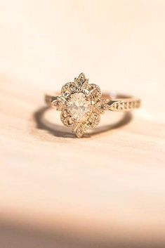 18 Outstanding Floral Engagement Rings ❤️ Floral ring designs are very multifunctional and can easily be adapted towards an bride's preferences. See more: http://www.weddingforward.com/floral-engagement-rings/ #wedding #floral #engagement #rings